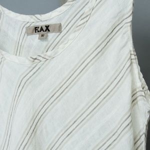 Flax Tops - Flax Women's linen tank top NWOT white brown